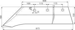 Pflugschar 1023 verstärkt ausgebaut draw