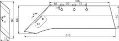 Pflugschar atlas ibis 111751p 111761l z dlutem draw